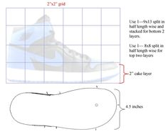 Jordan Shoe Cake Template | 3D High Top Sneaker