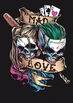 Joker and Harley Quinn Suicide Squad Wallpaper Harley Quinn Tattoo, Tatuaje Harley Quinn, Der Joker, Joker Art, Batman Art, Héros Dc Comics, Joker Kunst, Joker Y Harley Quinn, Totenkopf Tattoos