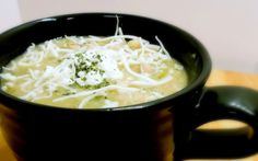 This white chicken chili recipe is flavorful and easy to put together. Quick White Chicken Chili can be made in as little as thirty minutes. Chili Recipes, Crockpot Recipes, Soup Recipes, Cooking Recipes, Cooking Ideas, Yummy Recipes, Dinner Recipes, Healthy Recipes, Kitchens