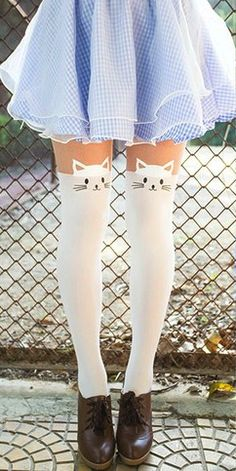 White cat tights                                                                                                                                                                                 More