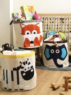 Funky Kids Stuff: 3 Sprouts Round Animal Storage Bins