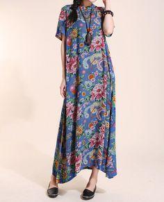 cotton Women Short sleeve dress/ Maxi dress/ Mini Long by MaLieb