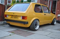 Friend has been restoring a Mk 1 Golf. Everything has been redone. Here is a pic of the back end.