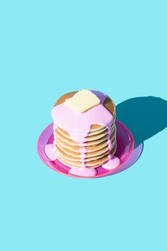 Pancakes in Pink / Violet Tinder Studios #display #design #object #installation #art