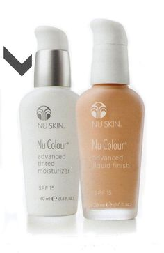 Nu Skin Tinted Moisturiser and Advanced Liquid Finish - the tinted moisturiser provides radiant lightweight coverage and the advanced liquid finish provides a matte and medium finish. Both benefit your skin by providing an SPF 15 and anti-ageing ingredients. Contact me for price and purchasing details kellyferntaylor@me.com