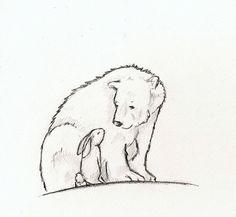 Bear_and_Rabbit_Lineart_by_Ramen_is_for_lovers.jpg 835×768 pixels