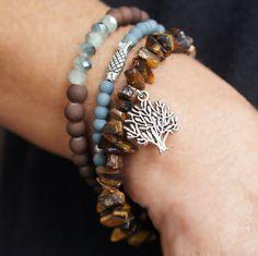 Boho Bracelet Multistrand Bracelet Charm Bracelet by CharmByIA
