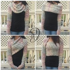 This sleeved shrug is super cute & convertible to make several different outfits from one garment. Who wouldn't love that? Now if only I could crochet. Lol