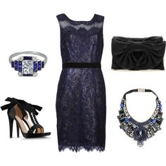 """""""formal outfit"""" dark blue"""