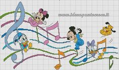 Musical Disney babies cross stitch 6-8                                                                                                                                                      More