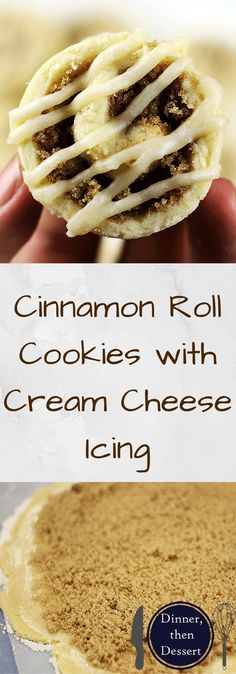 Cute little Cinnamon Roll Sugar Cookies with Cream Cheese Icing will satisy your cinnamon roll cravings without nearly as much effort! Great for dunking in coffee!