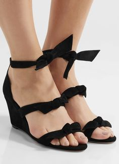 6e59a129 Black Wedge Sandals, Black Wedges, Wedge Heels, Sequins And Stripes,  Alexandre Birman