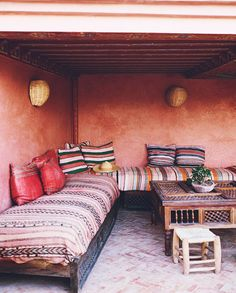 5 Beautiful Riads in Marrakech :: This Is Glamorous Interior Garden, Interior Design, Interior Styling, Riads In Marrakech, Moroccan Furniture, Instagram Worthy, Trendy Home, Modern Bohemian, Bars For Home