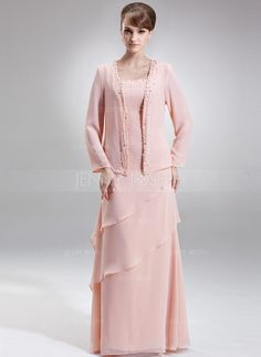 Mother of the Bride Dresses - $142.99 - A-Line/Princess Scoop Neck Floor-Length Chiffon Mother of the Bride Dress With Beading Cascading Ruffles (008006418) http://jennyjoseph.com/A-Line-Princess-Scoop-Neck-Floor-Length-Chiffon-Mother-Of-The-Bride-Dress-With-Beading-Cascading-Ruffles-008006418-g6418