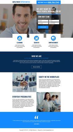 international employment opportunities converting landing page design