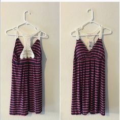 Pink and navy blue jrs M dress Pink and navy jrs M dress- new with tags Pink republic Dresses Mini