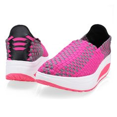 Women's Casual Breathable Knit Shook Sneakers