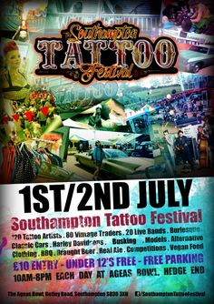 Representin my home city Southampton this weekend come by the convention I'll be judging the competitions today and tomorrow come say helloooooo ❤❤❤ Burlesque Outfit, British Traditions, Free Park, Southampton, Best Artist, Stunts, Tattoo Artists, Tattoo Festival, United Kingdom