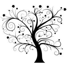 Imagini pentru copaci alb negru Flourish, Calligraphy, Painting, Home Decor, Art, Stamps, Scrapbook, Tattoo, Collection