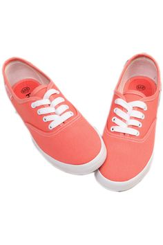#ROMWE Female Pink Shallow Lace-up Canvas Shoes