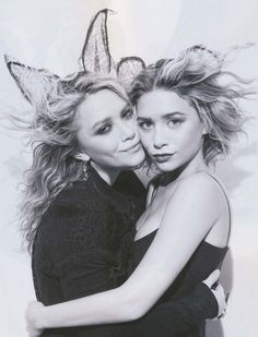Heres some cute Halloween style inspiration from Mary-Kate and Ashley with lace ears. Get the look: +...