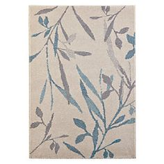 Colours Aaliyah Beige & Green Trailing Leaf Rug (L)2300mm (W)1600mm | Departments | DIY at B&Q