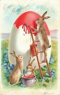ShapeShifter Seduction: Easter Fun In Wolf Peak Territory Thanksgiving Greetings, Valentines Greetings, Holiday Postcards, Vintage Postcards, Grand Wizard, Vintage Easter, Egg Hunt, Happy Easter, Bunny