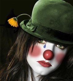 clown - she may be sad, but she looks like a nice clown, Keri Glaser