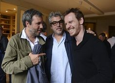 Michael with Canadian director Denis Villeneuve and Mexican Director Alfonso Cuarón