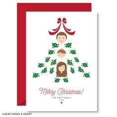 Personalized Christmas Card - Custom Illustrated Family Portrait - Custom…