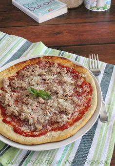 Pizza Dukan con tonno e parmigiano - cucina preDiletta