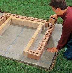 DIY Brick Barbeque – Back yard grill Outdoor Stove, Backyard Kitchen, Fire Pit Backyard, Outdoor Kitchen Design, Backyard Patio, Backyard Projects, Outdoor Projects, Grill Diy, Bbq Diy
