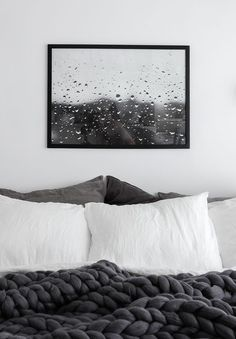 Some time ago I posted a few pictures of my living room with a my photo of raindrops on a window hanging on the wall and got huge amount of emails asking where this photo is from and how it can