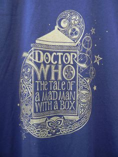 Doctor Who -T-Shirt - Hand Printed. $18.00, via Etsy.