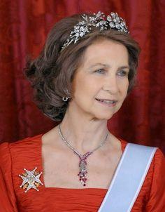 Reina Sofia de España . Tiara Floral