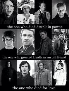 Sherlock, Harry Potter, Supernatural, and Dr Who.