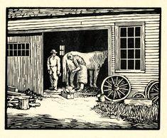 The Blacksmith Shop by Charles Henry Richert