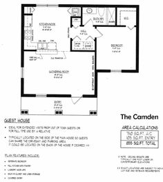 camden pool house floor plan - Pool House Plans