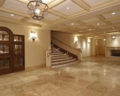 travertine flooring living room | visit houzz com