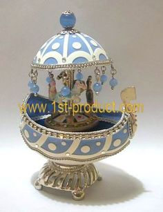 Eggshell Jewelry Box Eggshell Carving