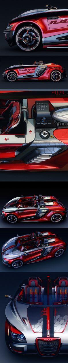 ♂ CGTalk - Concept Car (NAGA), Nitin Khosa from http://forums.cgsociety.org/showthread.php?threadid=1071878