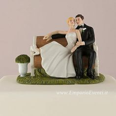 Custom Sitting Pretty on a Park Bench Couple Figurine plus more custom wedding cake toppers in many styles. With a custom wedding cake topper you can match the bride and groom hair colors to yours! Funny Wedding Cake Toppers, Unique Cake Toppers, Personalized Wedding Cake Toppers, Wedding Topper, Cool Wedding Cakes, Wedding Groom, Wedding Couples, Wedding Quotes, Wedding Songs