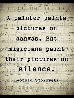 Musician paint pictures on silence