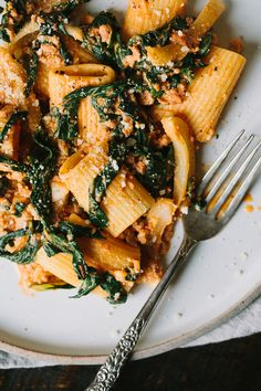 Swiss Chard, Fennel, and Sausage Pasta- a fresh and simple pasta for busy weeknight dinners