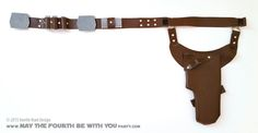 Han Solo DIY Holster: Without a good holster, your blaster might get stuck, and then Greedo will shoot first...and we all know how terrible THAT would be. (DON'T get me started!) With the exception of the holster, Han S...