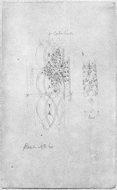 Louis H. Sullivan,American, 1856-1924,McVickers Theater: Sketch for Ornamental Band No. 6, c. 1883-91,Graphite on paper,34.6 x 21 cm,Director's Fund, 1997.454.1,C45486