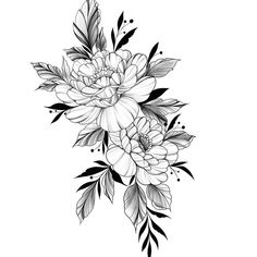 Tattoo Fleur, Bee Tattoo, Tattoo Outline, Chest Tattoo, Mini Tattoos, Rose Tattoos, Body Art Tattoos, Sleeve Tattoos, Mandala Rose Tattoo