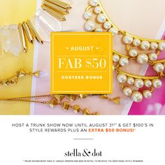 News From the Home Office: Fab $50 Hostess Bonu... | Stella & Dot Stylist Community
