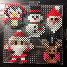 Weihnachtsmuster, Perler Beads / Hama beads, 圣诞 圣诞 拼 - Weihnachtsmuster, Perler Beads / Hama beads, 圣诞 圣诞 拼 - Perler Bead Templates, Diy Perler Beads, Perler Bead Art, Melty Bead Patterns, Pearler Bead Patterns, Beading Patterns, Peyote Patterns, Quilting Patterns, Christmas Perler Beads