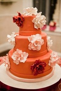 A few wedding cake ideas in the theme of round orange wedding cakes, lets begin! A stunning four tier wedding cake with pink roses and ye. Amazing Wedding Cakes, Amazing Cakes, Cake Wedding, Wedding Favors, Dream Wedding, Pretty Cakes, Beautiful Cakes, Tangerine Wedding, Orange Wedding